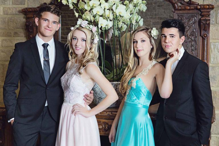 prom image of two couples