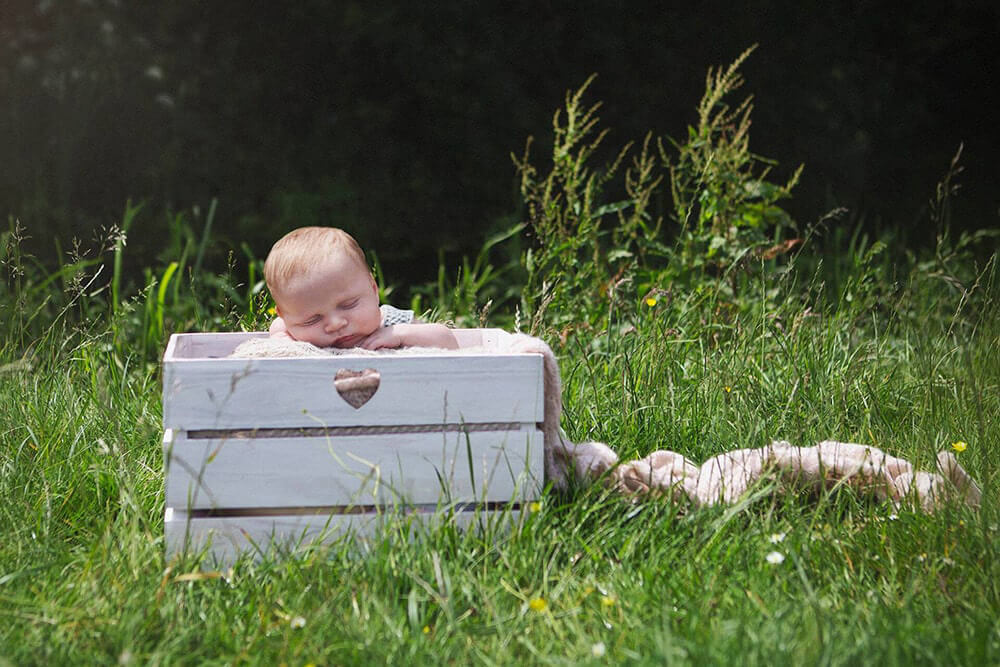 A beautiful newborn shoot for an engaged couple in Dorset.