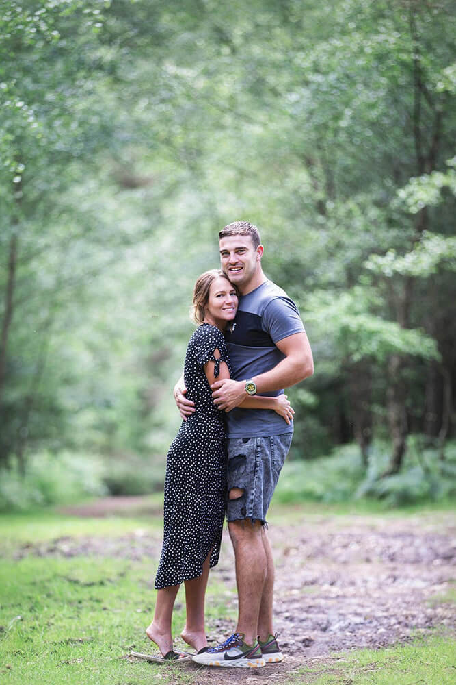 An engaged couple shoot in the New Forest.