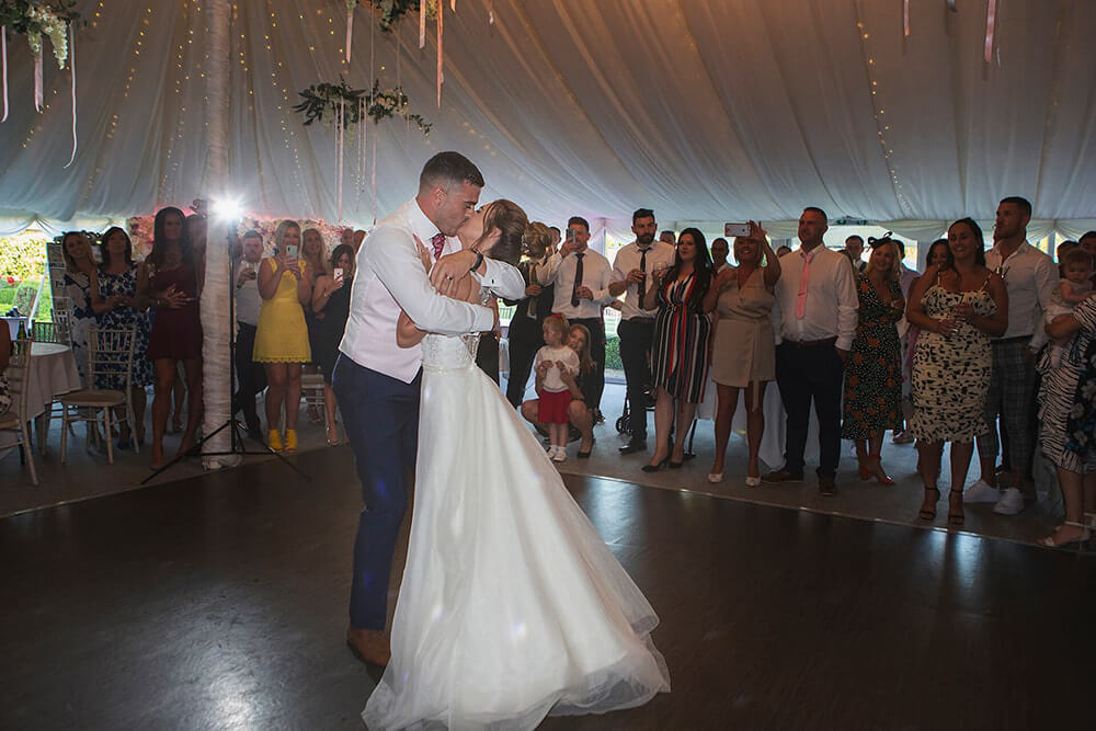 The first dance at a wedding at Parley Manor, Christchurch.