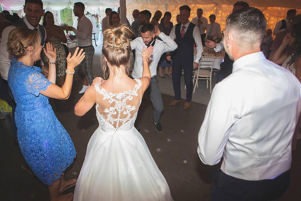 Dancing at a wedding at Parley Manor, Christchurch.