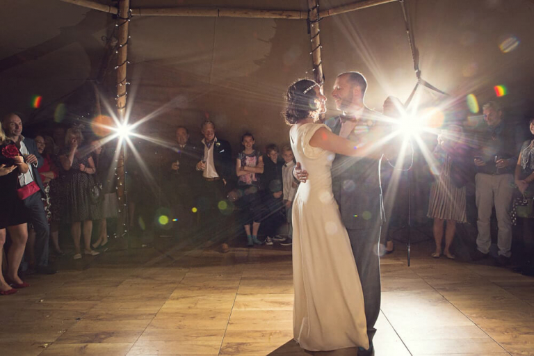 First dance at a beautiful humanistic 1920s wedding in Henfield Sussex.